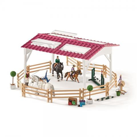 SCHLEICH Riding school with riders and horses billede