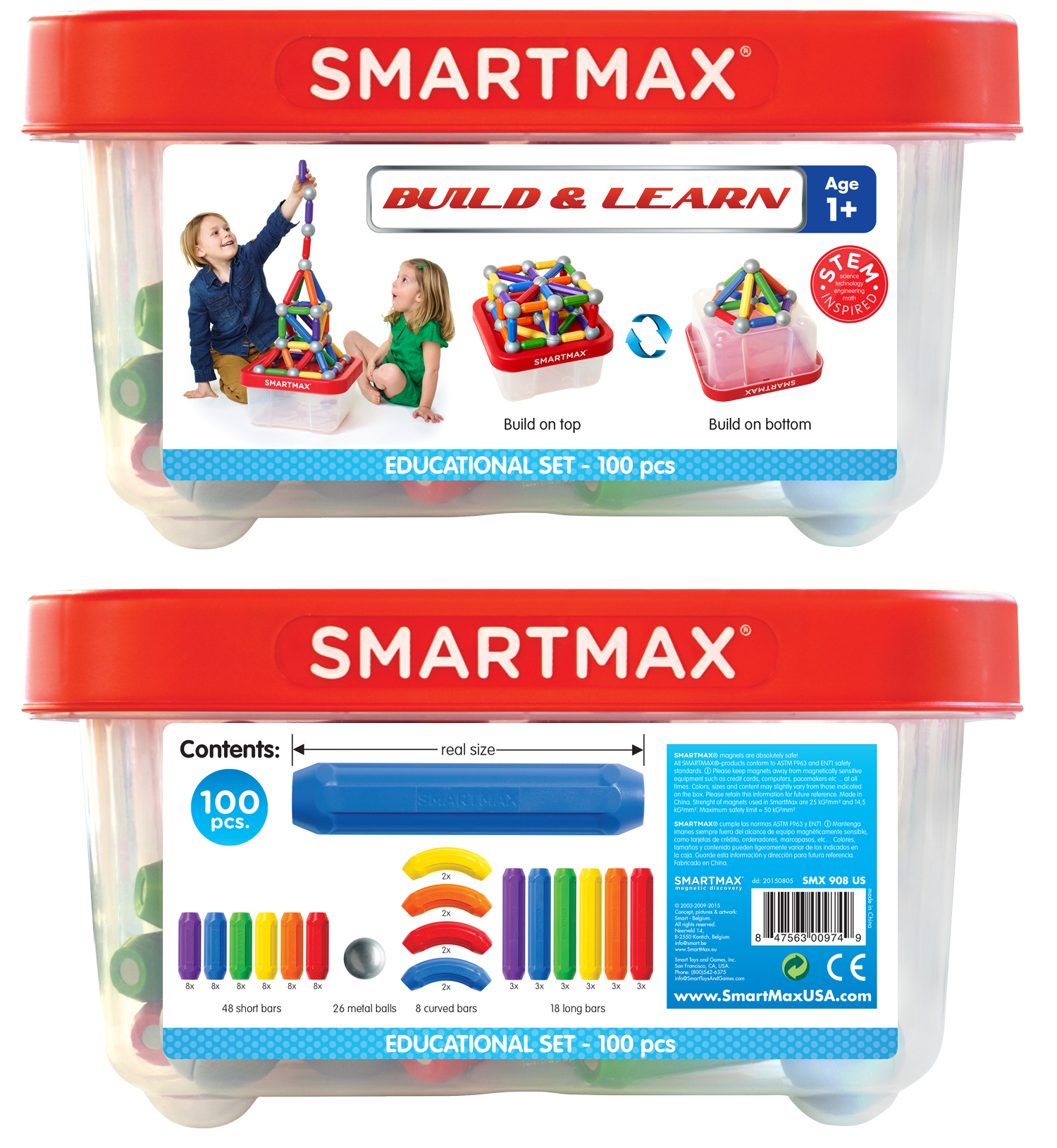 Smartmax Build and Learn Educational 100 billede