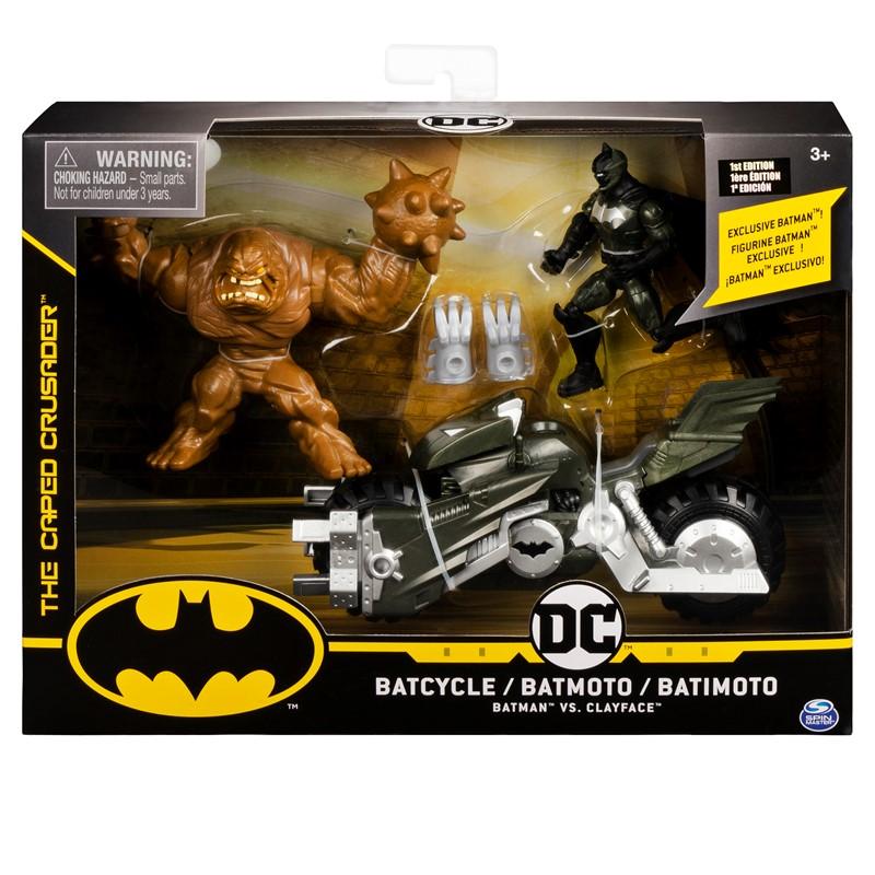Batman Batcycle w2 figures 10 cm. billede