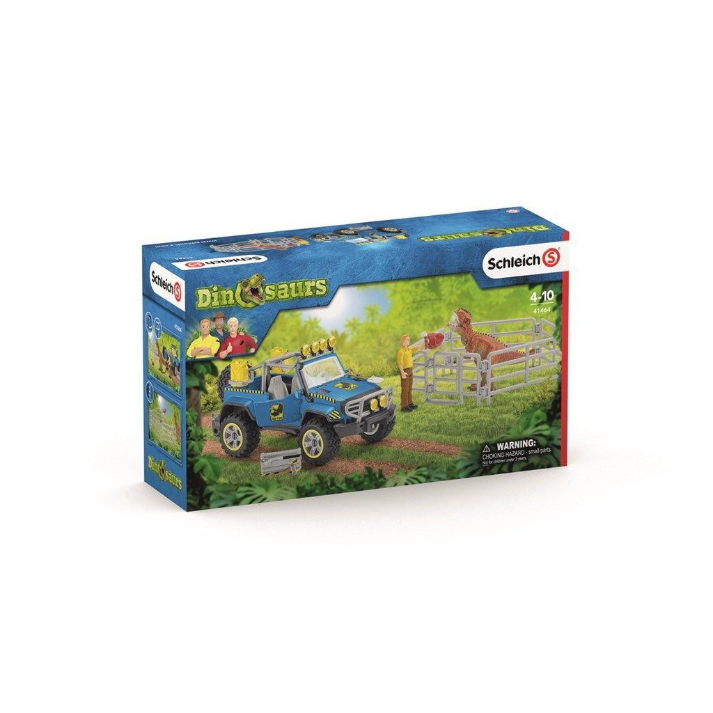 Schleich Off-road vehicle with dino outpost billede